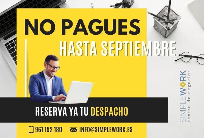 Despachos gratis en Valencia hasta septiembre