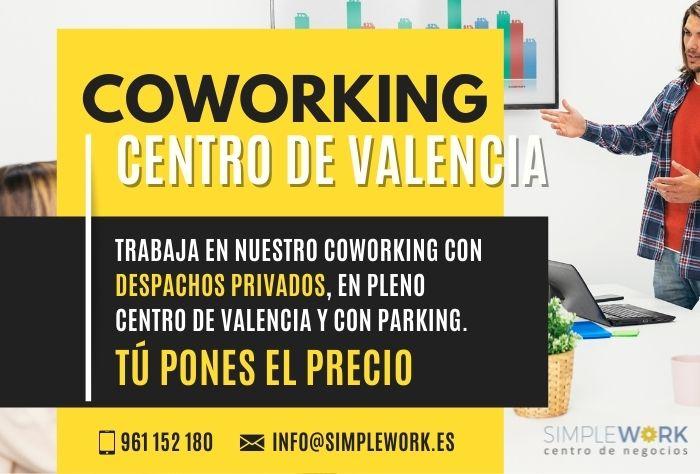 Coworking centro de Valencia, pone tu el precio!